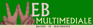 logo di webmultimediale.org, parole in movimento